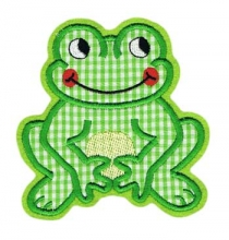 Applikation Aufnäher lachender Frosch