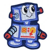 Applikation / Aufnäher Motiv Roboter 01