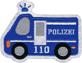 Applikation / Aufnäher Motiv Polizeiauto