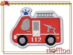 Applikation / Aufnäher Motiv Feuerwehrauto