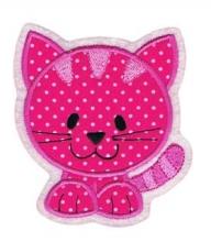 Applikation / Aufnäher Katze Pinky