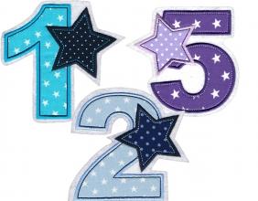 Applikation Geburtstagszahl Zahl nach Wunsch