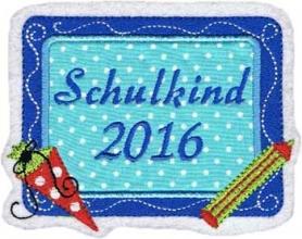 Applikation / Aufnäher  Schulkind 2016