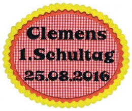 Applikation 1. Schultag XXL Fb. rot