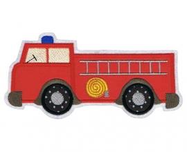 Applikation / Aufnäher  XXL Feuerwehrauto