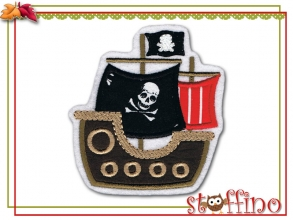 Applikation  Piratenschiff zum Aufbügeln