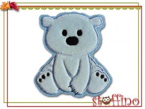 Applikation / Aufnäher Eisbär hellblau Nicky
