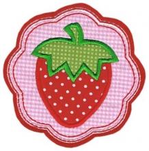 Applikation / Aufnäher Erdbeere 1