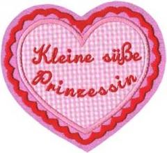 Applikation Herz Kleine süße Prinzessin