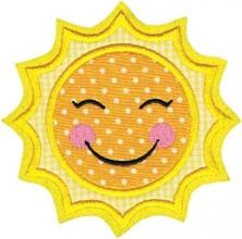 Applikation Aufnäher lustige Sonne