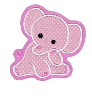 Applikation / Aufnäher Elefant