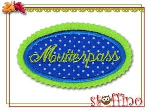 Gestickte Applikationen für den Mutterpass 02
