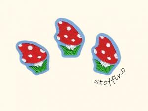 Set 3 Pilze Glückspilze Applikation Aufnäher