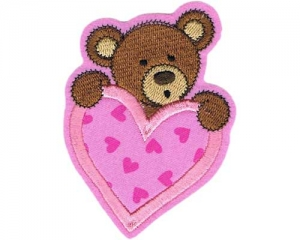 Applikation Teddy mit Herz