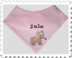Jersey-Halstuch mit Name und Motiv